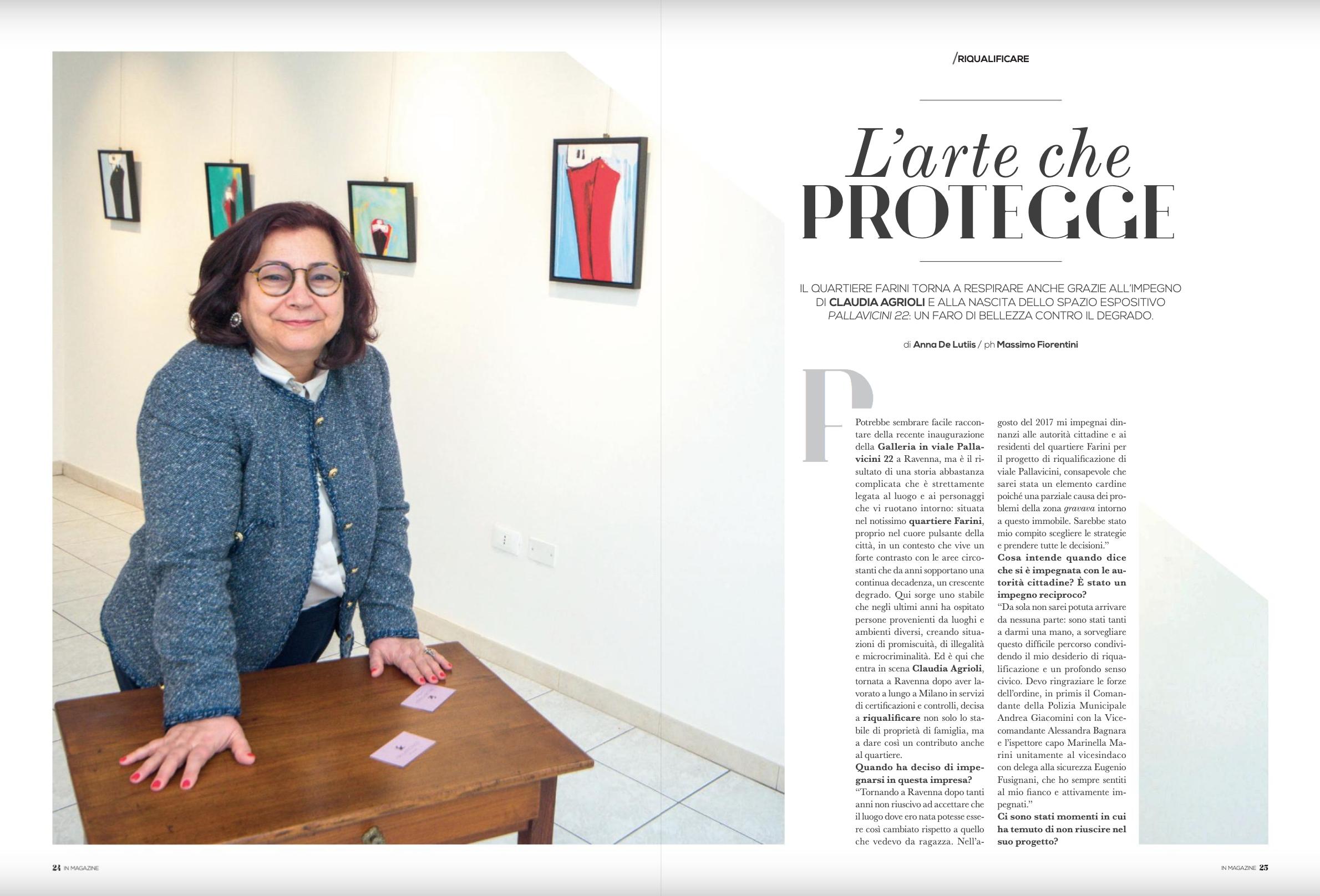 L'arte che protegge su IN Magazine Ravenna | Pallavicini22 spazio espositivo Ravenna