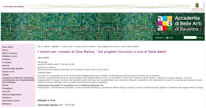 I cartoni per i mosaici di Dora Markus su Accademia di Belle Arti di Ravenna | Pallavicini22 spazio espositivo Ravenna