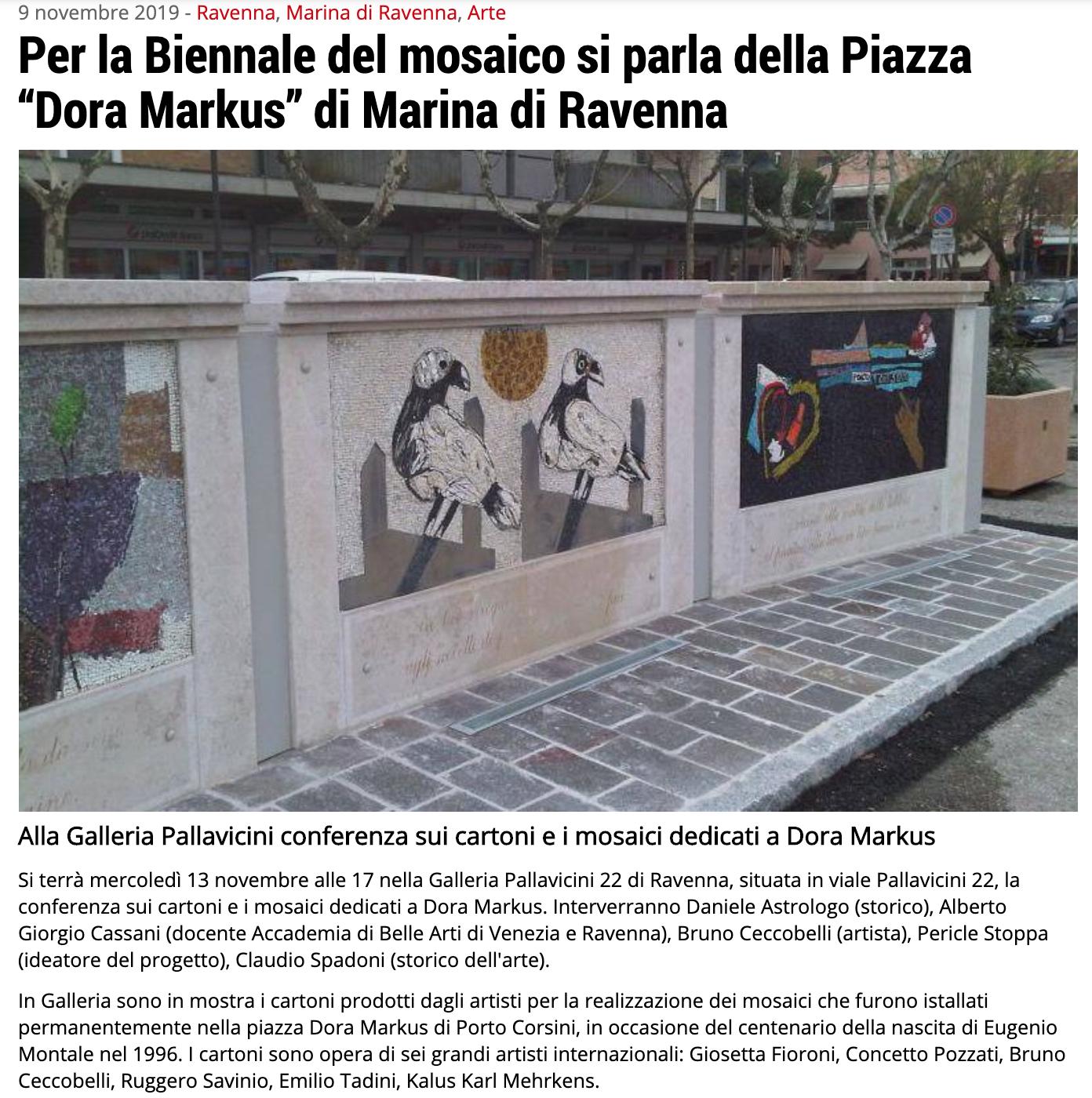 Caricato inI cartoni per i mosaici di Dora Markus su Ravenna24Ore   Pallavicini22 spazio espositivo Ravenna