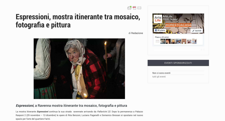 Espressioni su ArtsLife | Pallavicini22 spazio espositivo Ravenna