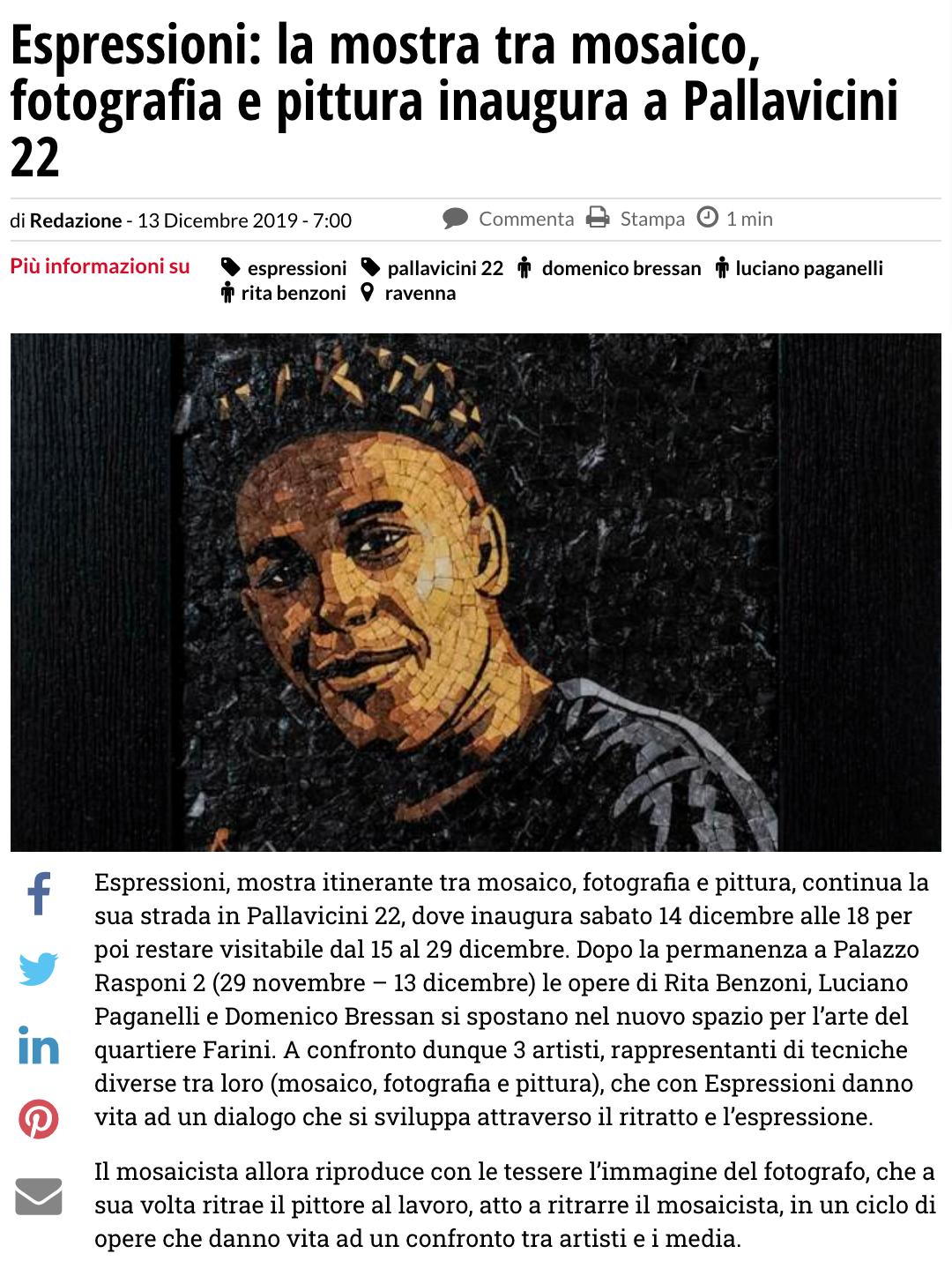 Espressioni su Ravennanotizie.it | Pallavicini22 spazio espositivo Ravenna
