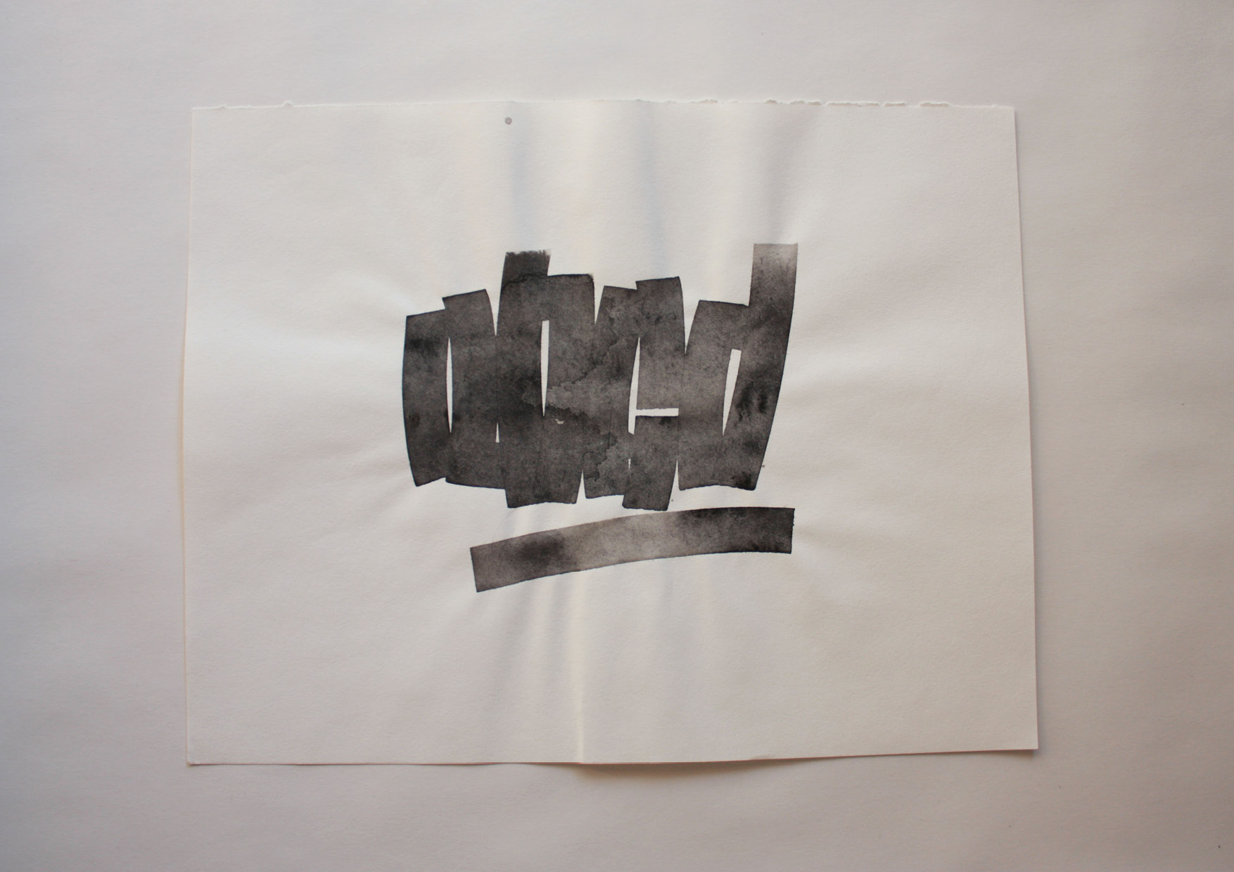 abcdTavola ispirata alle prime lettere dell'alfabeto. Classico no? Ma lo riconosci?Parallel Pen e inchiostro Sumi su carta.350x280 mm2019