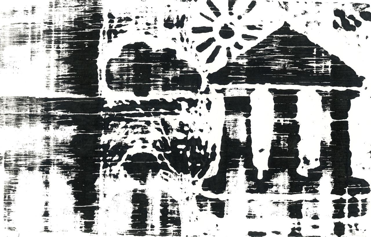 DRUDI MATTEO  Simboli xilografia 165x260 mm 2020