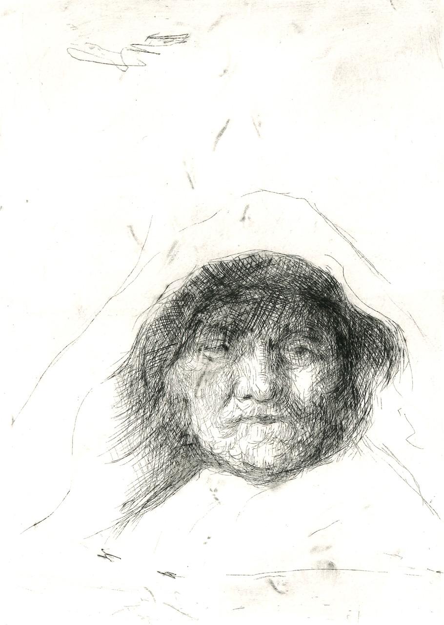 KITANOSKA ANICA  Madre di Rembrandt puntasecca su alluminio 180x120 mm 2020