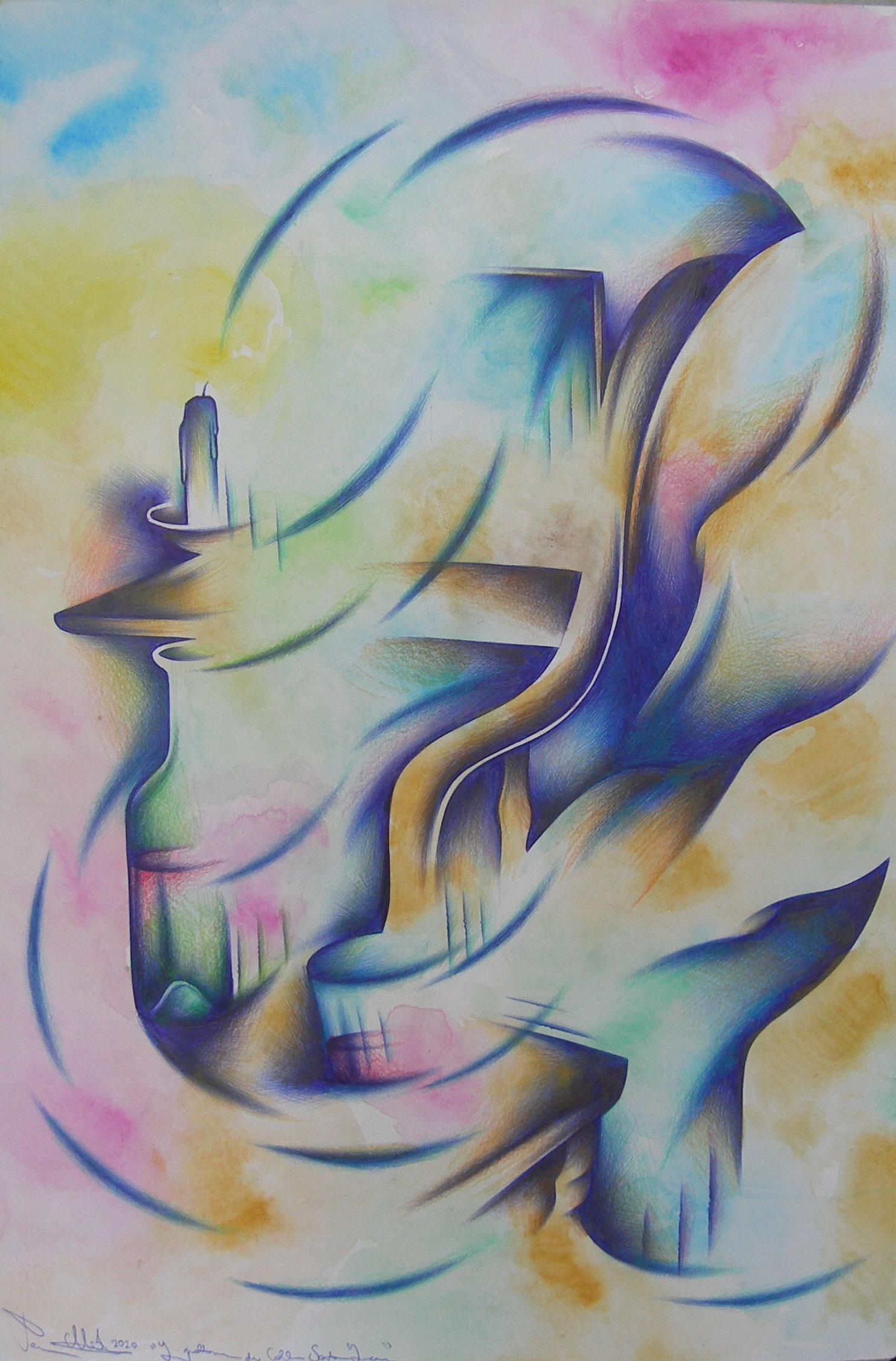 La poltrona di Santa Lucia tec. m. su carta cm. 50x35 2020