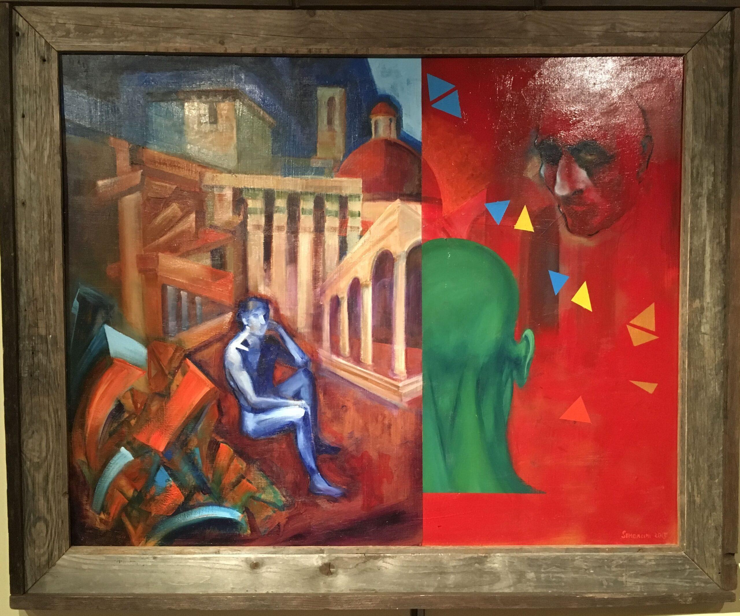Andrea Simoncini  Vanitas olio su tavola cm 86x1002015