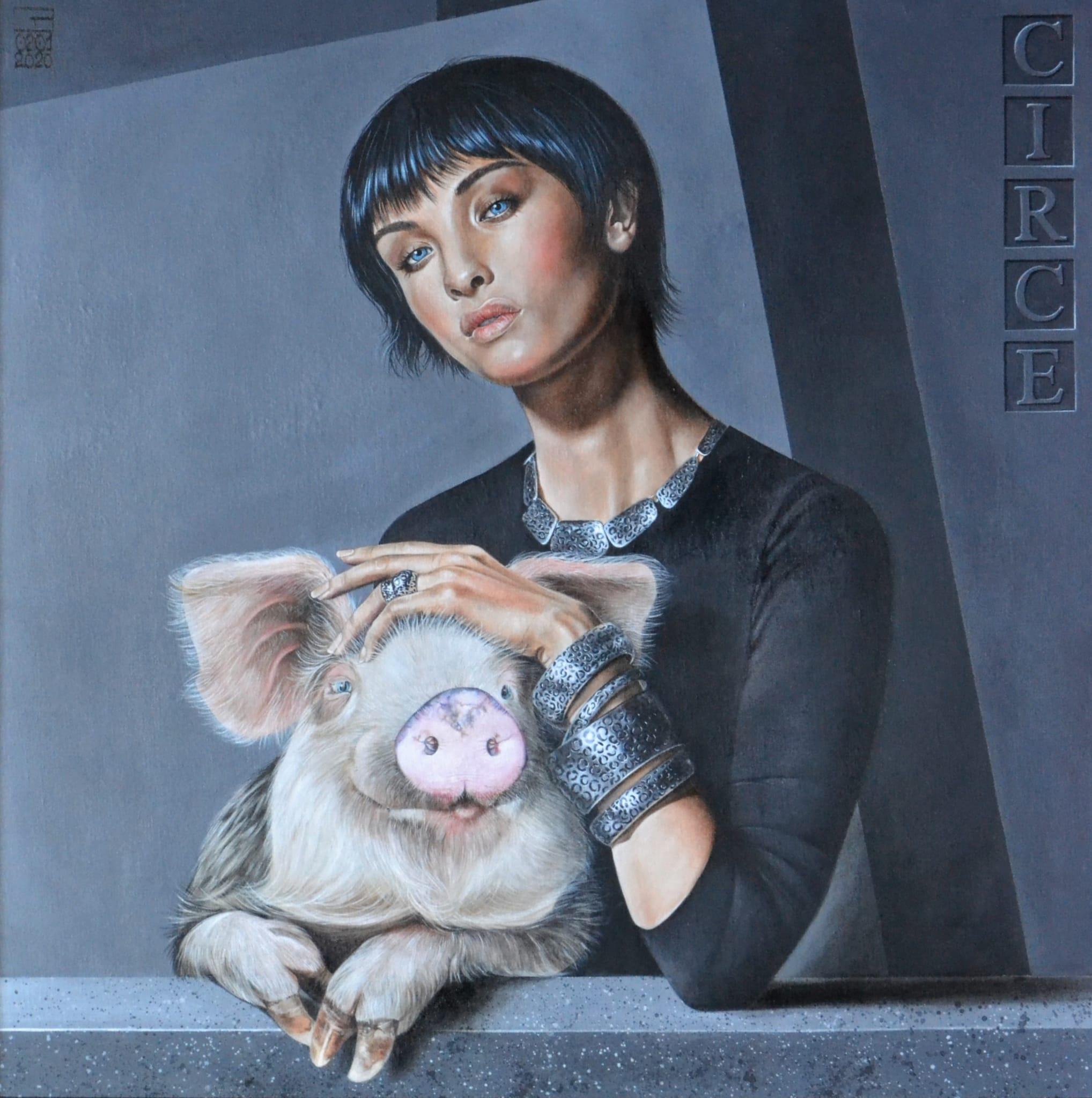 Grazia Barbieri  Circe   acrilico su tela cm. 80×80  2019