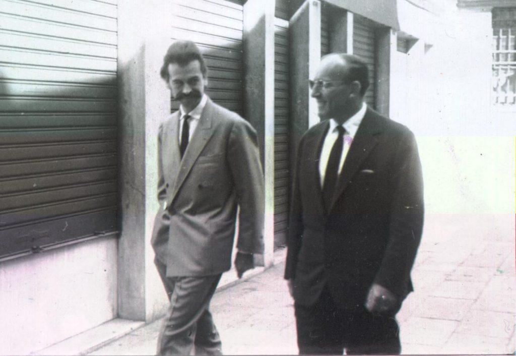 Roberto Pagnani e George Mathieu – anni '50 (Archivio Ghigi-Pagnani)